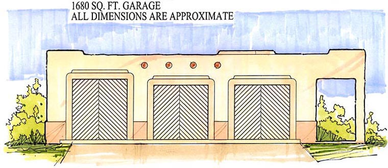 Garage Plan 54779 Elevation