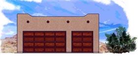 3 Car Garage Plan 54780 Elevation