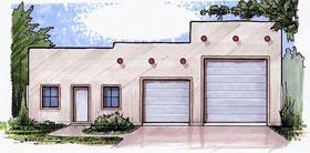 Garage Plan 54781 | Style Plan, 3 Car Garage Elevation