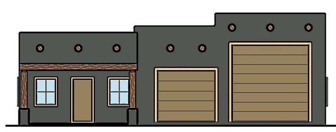 Garage Plan 54782 Elevation