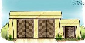 Garage Plan 54784 | Style Plan, 2 Car Garage Elevation