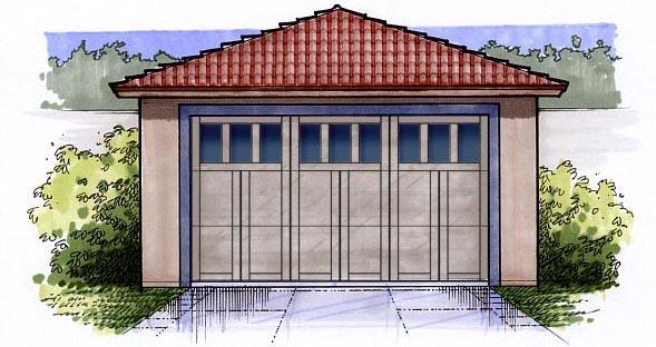 2 Car Garage Plan 54790 Front Elevation
