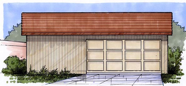 Garage Plan 54791 Elevation