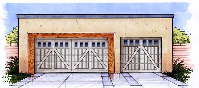 Garage Plan 54792 Elevation
