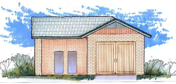 Garage Plan 54795 Elevation