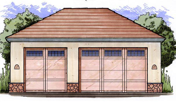 Garage Plan 54796 Elevation