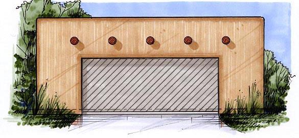 2 Car Garage Plan 54797 Elevation