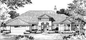 House Plan 54806 | Florida Style Plan with 2776 Sq Ft, 4 Bedrooms, 4 Bathrooms, 2 Car Garage Elevation