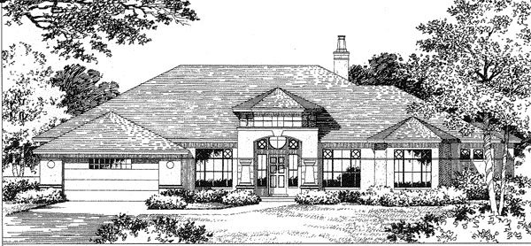 Florida House Plan 54806 Elevation