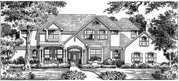 Florida Mediterranean House Plan 54807 Elevation