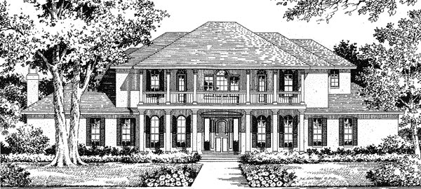 Florida Mediterranean House Plan 54809 Elevation