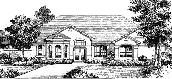 Florida Mediterranean House Plan 54810 Elevation