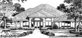 Florida Mediterranean House Plan 54811 Elevation