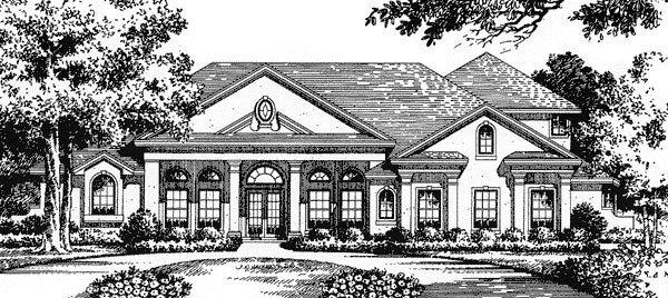 House Plan 54812 | Florida Mediterranean Style Plan with 3623 Sq Ft, 3 Bedrooms, 3 Bathrooms, 3 Car Garage Elevation