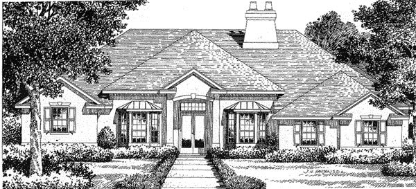 Florida House Plan 54813 Elevation