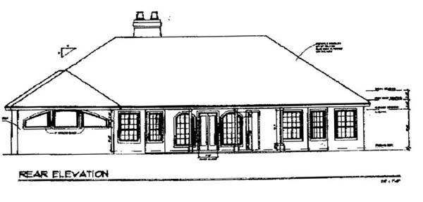 Florida House Plan 54813 Rear Elevation