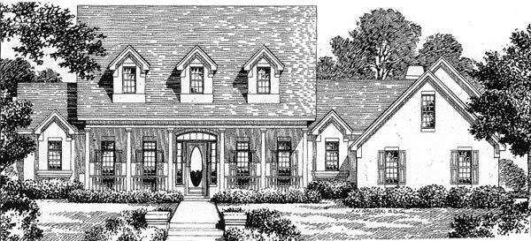 Florida Mediterranean House Plan 54814 Elevation
