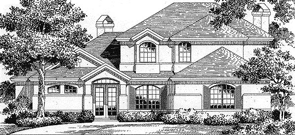 Florida Mediterranean House Plan 54816 Elevation