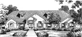 Florida , Mediterranean House Plan 54823 with 4 Beds, 4 Baths, 3 Car Garage Elevation