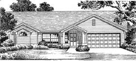 House Plan 54837 | Florida Mediterranean Style Plan with 1683 Sq Ft, 3 Bedrooms, 2 Bathrooms, 2 Car Garage Elevation