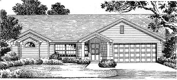 Florida , Mediterranean House Plan 54837 with 3 Beds, 2 Baths, 2 Car Garage Elevation