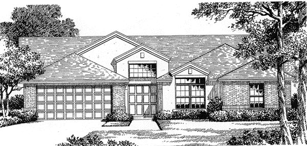 Florida Mediterranean House Plan 54840 Elevation