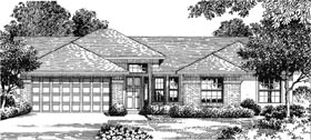 House Plan 54842 | Florida Mediterranean Style Plan with 1723 Sq Ft, 4 Bedrooms, 2 Bathrooms, 2 Car Garage Elevation