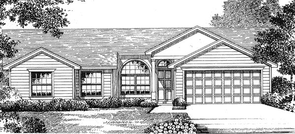 Florida , Mediterranean House Plan 54843 with 3 Beds, 2 Baths, 2 Car Garage Elevation
