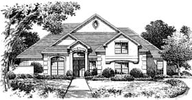 Florida House Plan 54847 Elevation