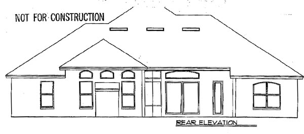 Florida Rear Elevation of Plan 54847