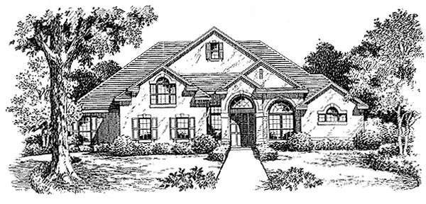Florida Mediterranean House Plan 54851 Elevation