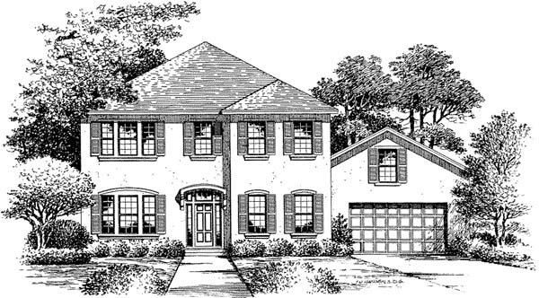 Florida Mediterranean House Plan 54854 Elevation