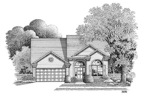 Traditional House Plan 54858 Elevation