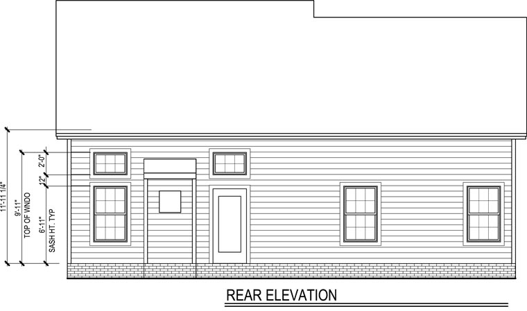 Traditional House Plan 54858 Rear Elevation