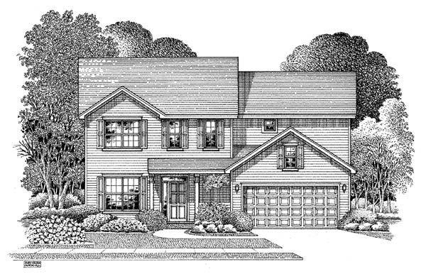 Traditional House Plan 54861 Elevation