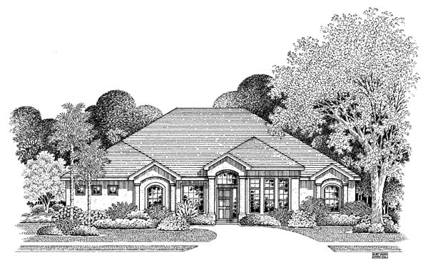 Florida House Plan 54867 Elevation