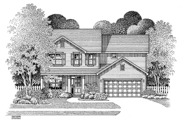 Country House Plan 54869 Elevation