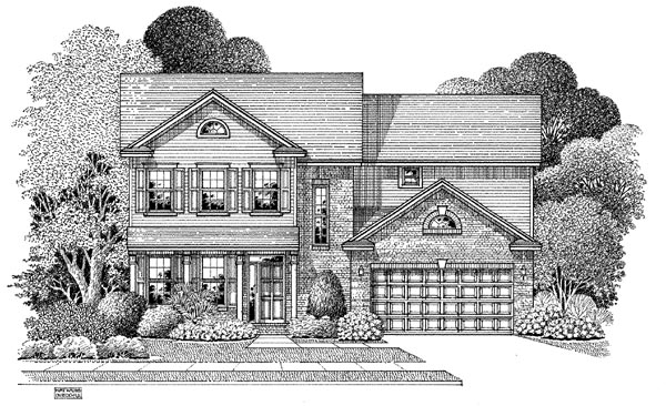 Colonial House Plan 54870 Elevation