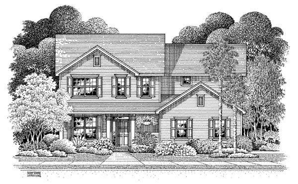 Traditional House Plan 54872 Elevation