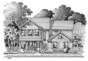 Colonial House Plan 54873 Elevation