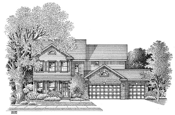 Colonial House Plan 54876 Elevation