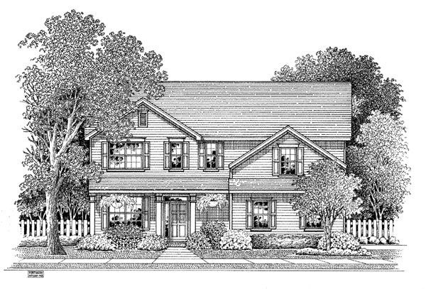 Traditional House Plan 54880 Elevation