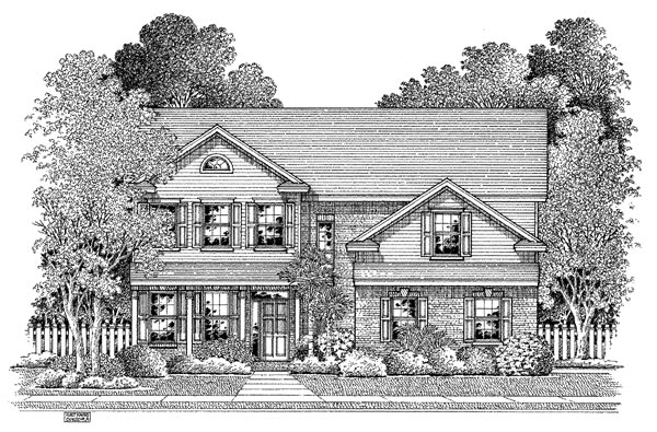 Colonial House Plan 54881 Elevation