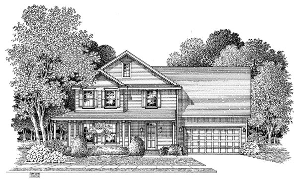 Country House Plan 54885 Elevation