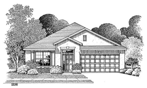 Florida House Plan 54887 Elevation