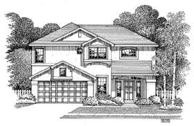 Florida House Plan 54888 Elevation