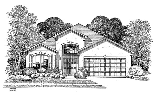 Florida House Plan 54891 Elevation