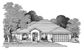 Florida House Plan 54897 Elevation