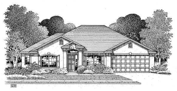 Florida House Plan 54898 Elevation
