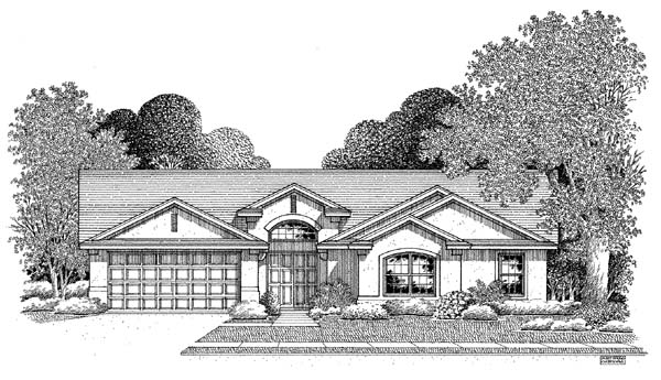 Florida House Plan 54900 Elevation